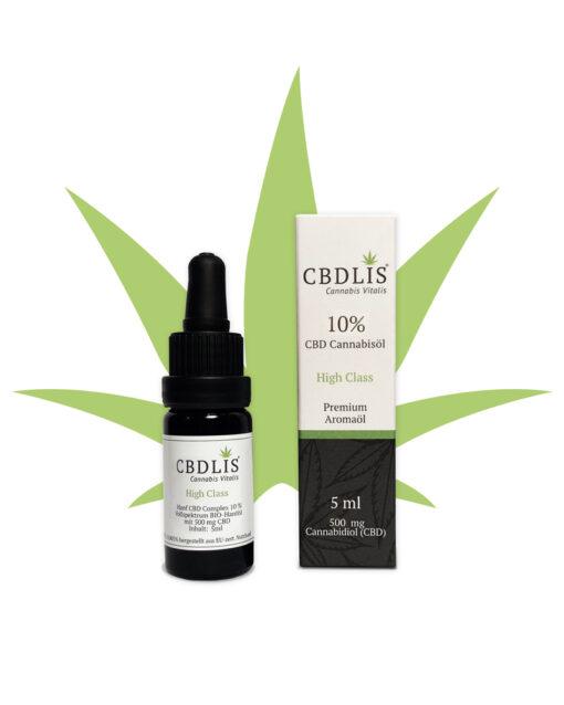Bio-CBD-Öl-10%-bio-highclass-500mg-CBDLIS-aromaöl