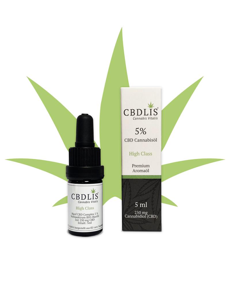 CBD-Öl-bio-highclass-5%-250mg-CBDLIS-aromaöl
